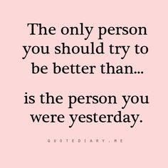 The only person you