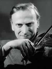 """Yehudi Menuhin. The existence of music was for Menuhin proof that """"in every man there was a spark of God"""", as Dostoevsky had put it. This was why he travelled with Benjamin Britten to Belsen concentration camp after it was liberated, to play for the half-starved inmates. It was an assertion of his belief that good must eventually triumph."""