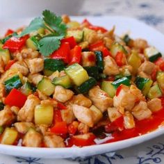 Spicy Cucumber Red Peper with Meat Stir-fry Recipe