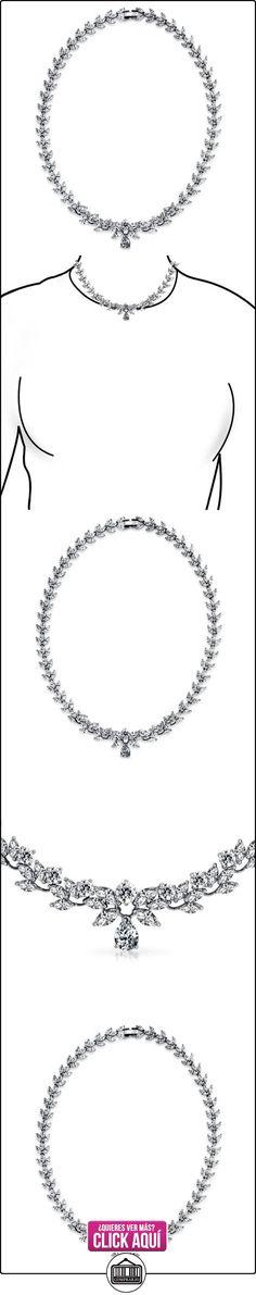 Bling Jewelry Collar Nupcial Circonita Marquesa Forma de Lágrimas 18 Pulgadas  ✿ Joyas para niñas - Regalos ✿ ▬► Ver oferta: https://comprar.io/goto/B00K5TTDFE