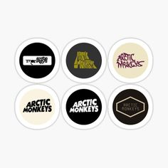 Pegatinas: Arctic Monkeys | Redbubble Letras Arctic Monkeys, The Last Shadow Puppets, Instagram Design, Cool Stickers, Logo Sticker, Aesthetic Stickers, Illustrations And Posters, Things To Buy, Vinyl Decals