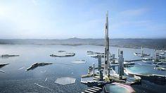 Un equipo de arquitectos e ingenieros ha planteado un conjunto de estructuras hexagonales en la bahía de la ciudad japonesa. En una de ellas se erigirá el mayor rascacielos del planeta