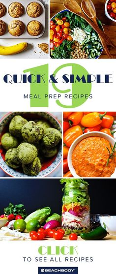 Check out these 19 simple meal prep recipes! Perfect for staying healthy even when you're busy. Easy Meal Prep, Healthy Meal Prep, Easy Healthy Recipes, Quick Easy Meals, Healthy Choices, Healthy Eating, Healthy Nutrition, Proper Nutrition, Diet Recipes