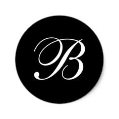 B Monogram Stickers