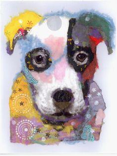 Pop+Art+Pup+Blank+Greeting+Cards+Set+of+6+Cards+by+RobinPanzerArt,+$16.00