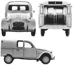 1963 Citroen 2CV AZU AK Wagon blueprint