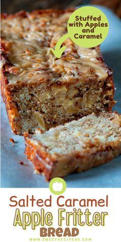Loaf Bread Recipe, Best Bread Recipe, Bread Recipes, Baking Recipes, Apple Fritter Bread, Apple Bread, Apple Fritters, Breakfast Dishes, Breakfast Recipes