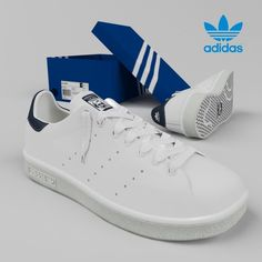 e67c84c5bd6f Stan Smith by Adidas Originals 3D Model .max .c4d .obj .3ds .