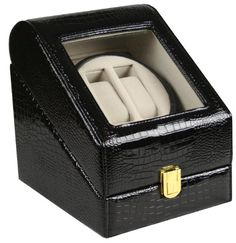 TOP QUALITY LEATHER AUTOMATIC DOUBLE WATCH WINDER BOX - http://www.specialdaysgift.com/top-quality-leather-automatic-double-watch-winder-box/