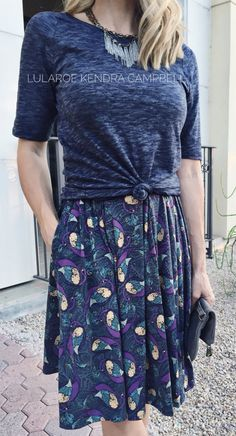 The LuLaRoe Madison skirt... pleats + pockets = perfection! Click to shop or get styling ideas.