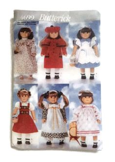 Butterick 4699 Sewing Pattern Fits 18 inch Girl Doll Clothes Dress Coat Nightgown Vintage