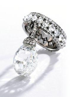 Platinum and Briolette Diamond Ring, Jar, Paris - Sotheby's