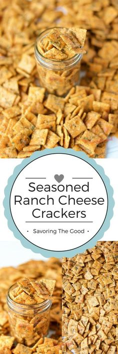 for ranch crackers are even BETTER than the seasoned ranch oyster cracker recipe we had been using. Because of the cheese crackers. They added one more layer of cheese goodness to the flavors we had already become addicted to. Salty Snacks, Yummy Snacks, Snack Recipes, Cooking Recipes, Yummy Food, Dinner Recipes, Restaurant Recipes, Bunco Snacks, Pretzel Snacks