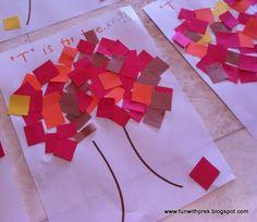 preschool fall crafts | Autumn Tree craft | Preschool Crafts