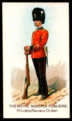 "https://flic.kr/p/7vUPtu | Cigarette Card  - Royal Munster Fusiliers | Wills's Scissors Cigarettes ""Types of the British Army"" (series of 50 issued in India in 1908) Private, Royal Muster Rifles"