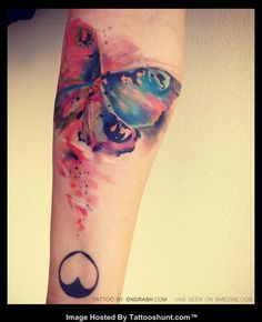 colorful butterfly tattoos | Abstract Butterfly Tattoos Colorful