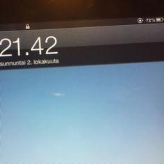 Maailman ensimmäinen iPad-malli. Akunkesto yllättää. 2viikkoa stand by moodissa wifissä. Ja akkua vielä karmeesti jäljellä! #t #fb #potkukelkkacom #ipad1