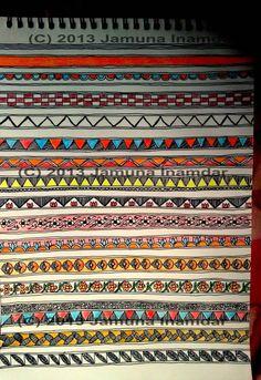 On teaching & learning folk arts – Madhubani Paintings – Art Education Madhubani Art, Madhubani Painting, Mandala Painting, Mural Painting, Fabric Painting, Kalamkari Painting, Indian Arts And Crafts, Art Basics, Mandala Art Lesson