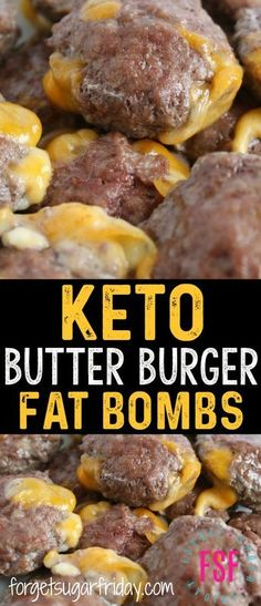 The ULTIMATE keto savory fat bombs!! These Keto Butter Burgers are bursting with flavor and have ZERO carbs. Each Butter Burger fat bomb has 10g fat, so they'll help you perfectly stick to your keto diet. Plus they're a super easy keto recipe! #keto #ketofatbombs #ketodiet #ketorecipes via @fsugarfriday