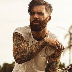 Levi Stocke being dapper - full thick beard and mustache beards bearded man men mens' style suit dressy hair hairstyle model handsome Best Undercut Hairstyles, Undercut Men, Undercut Styles, Hairstyles Haircuts, Hipster Hairstyles Men, Hipster Haircut, Mens Hairstyles With Beard, Funky Hairstyles, Formal Hairstyles