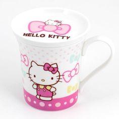 Hello Kitty Ceramic Mug with Lid Hello Kitty Mug, Hello Kitty Kitchen, Hello Kitty Items, Ceramic Mug With Lid, Hello Kitty Merchandise, Princess Kitty, Hello Kitty Accessories, Miss Kitty, Hello Kitty Collection