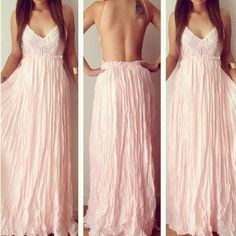 Shop Kami Shade' - Pink Goddess Open Back Maxi Dress,