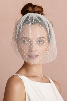 Dotted Voile Veil- Bhldn  #wedding