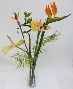 This strikingly tall tropical faux floral arrangement makes a dramatic visual statement. Display in an entrance hall on a console table, or as a centrepiece for the dining table. Decorative Items, Decorative Accessories, Boutique Homes, Luxury Interior Design, Faux Flowers, Tropical Flowers, Peonies, Floral Arrangements, Console Table
