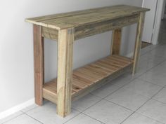 Hard wood console table