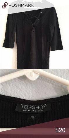 Top shop short sleeve Criss cross top Topshop Tops Tees - Short Sleeve