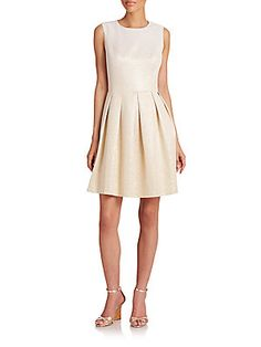 Price after savings: $119.99 Abigail Metallic Fit-And-Flare Dress
