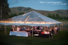 clear tent for wedding reception