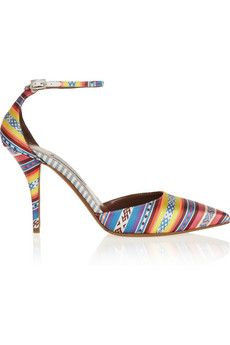 Tabitha Simmons Lou silk-jacquard pumps | THE OUTNET