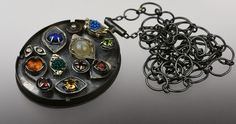 Andrea Daly ~ Pendant 2015   $2,400 Silver, a variety of semi precious stones, glass beads