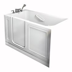 American Standard Walk-In Bathtub. Compare American Standard Walk-In Bathtubs prices at top bathtub retailers. The smarter way to shop for American Standard walk-in tubs. Walk In Tubs, Walk In Bathtub, Bathtub Drain, Best Bathtubs, Soaking Bathtubs, Spa Colors, Whirlpool Bathtub, American Standard, Full Bath