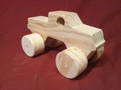 Wooden Toy Truck 4x4 Pickup
