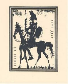 Exlibris con Don Quijote