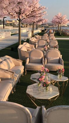 wedding lounge with pink peach blossom, spring wedding ideas Wedding Goals, Wedding Themes, Wedding Planning, Wedding Decorations, Outdoor Decorations, Party Planning, Garden Decorations, Wedding Centerpieces, Birthday Decorations