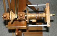 Bobbin and Flyer Assembly by afranquemont, via Flickr ~choosing your first spinning wheel