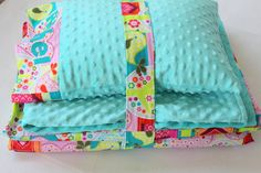 Nap+Mat+Cover++Birds++Teal++Hot+Pink++by+ThePinkRoseBoutique,+$30.00