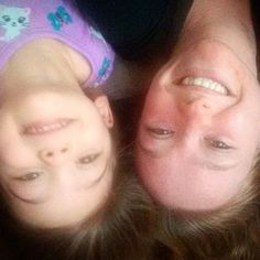 Upside down snuggles this morning! #nannylife #ilovemyjob #thelifeofalexac #lovemygirls #childhood