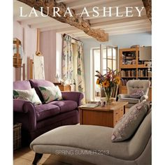Laura Ashley 2013 (decorating book) I worked for Laura Ashley in the mid-eighties to early nineties in the US. I so miss the brand. It seems like we're overdue a return to the Laura Ashley style ; Victorian Sofa, Estilo Country, English Interior, Laura Ashley Home, Charleston Homes, Living Room Cabinets, American Decor, Small Living Rooms, Luxury Living