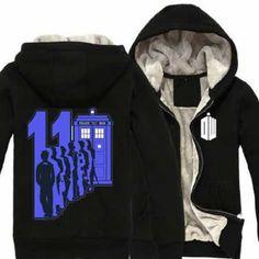 Doctor who zip up hoodie Tardis thick fleece clothing Fleece Hoodie, Hooded Sweatshirts, Hoodies, Doctor Who Tardis, Black Zip Ups, Plus Size Outfits, Black And Grey, Sweaters, Cotton