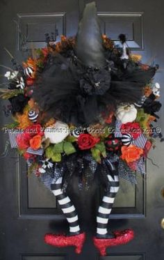 Witch wreath. These ruby slippers would look great in no (other) place like home.