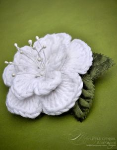 Dewdrop Crocheted Flower Pin | Free Pattern for Kids and Adult | YouCanMakeThis.com