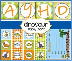 Free Birthday Party Printables-Dinosaur Theme  Everything you need including invitaitions