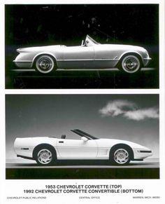 1953 1992 Chevrolet Corvette Convertible Factory Photo