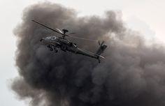 Apache Helicopter, Waddington Air Show - 06-07-2014