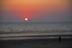 A Couple hugging in the sunset beach, Taean, South Korea