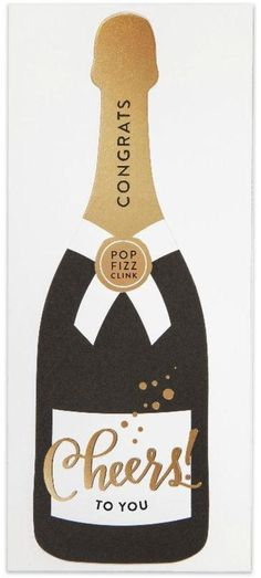 The Social Type Cheers Champagne Card